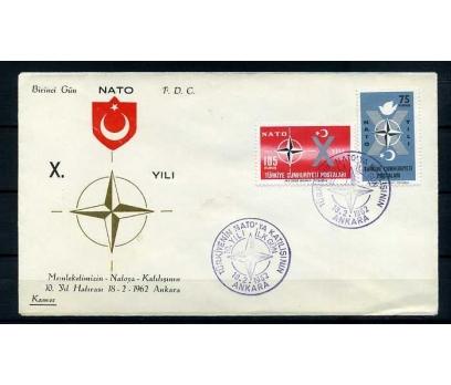 CUMH.FDC  1962 NATO'DA 10.YIL KAMER