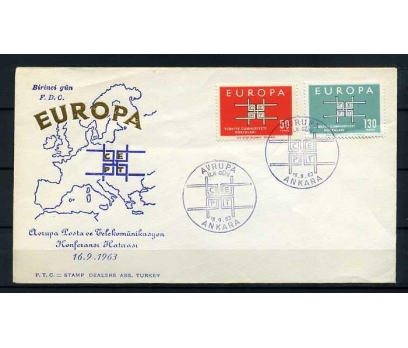 CUMH.FDC  1963 EUROPA CEPT  STAMP DEALERS