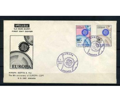 CUMH.FDC  1967 EUROPA CEPT  AKOBA