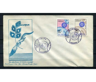 CUMH.FDC  1967 EUROPA CEPT STAMP TRADE