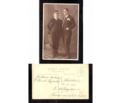 D&K-ŞIK GİYİNİMLİ İKİ BEYFENDİ 1931 İMAZLI FOTO.