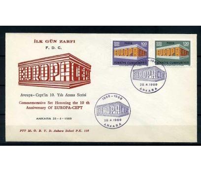 CUMH.FDC  1969 EUROPA CEPT SÜPER