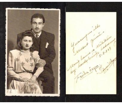 D&K-GELİN VE DAMAT ARKASI YAZILI 1949 YILI