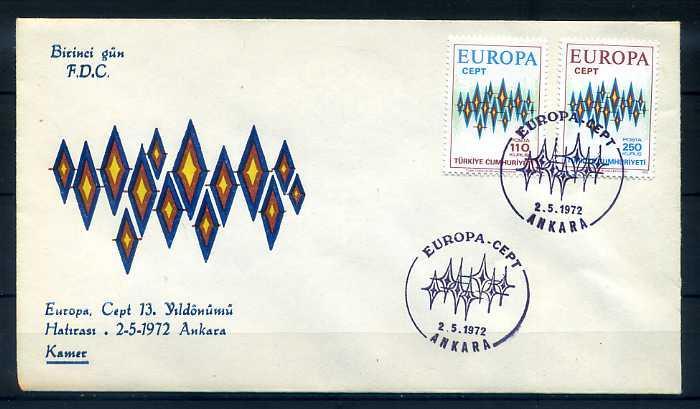 CUMH.FDC 1972 EUROPA CEPT  KAMER 1