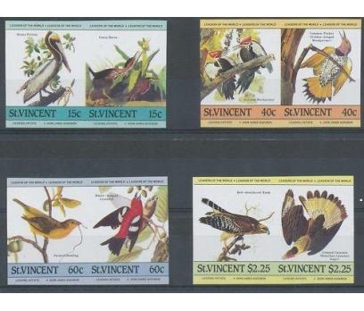 Saint Vincent Kuşlar Imperf. Per Damgasız**