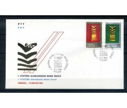 CUMH.FDC 1986 1.ATATÜRK BARIŞ ÖDÜLÜ SÜPER