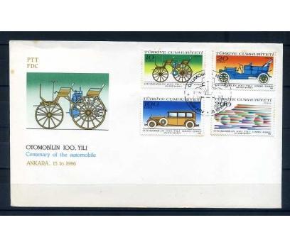 CUMH.FDC 1986 OTOMOBİLİN 100.YILI  SÜPER