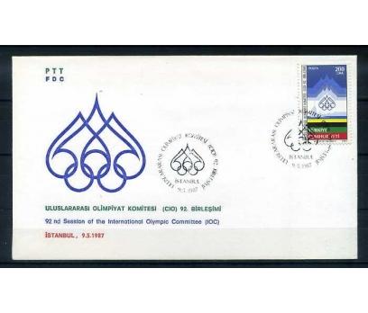 CUMH.FDC 1987 ULUSLARARASI OLİMP.KOM. SÜPER