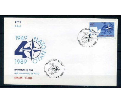CUMH.FDC 1989 NATO'NUN 40.YILI  SÜPER