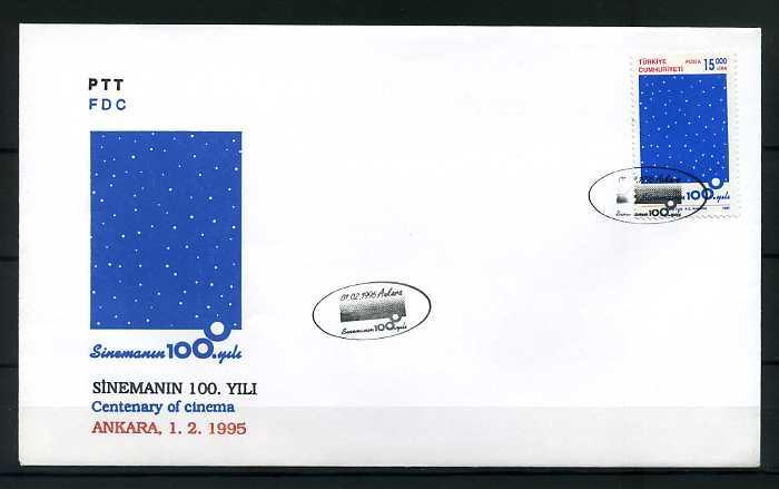 CUMH.FDC 1995 SİNEMA'NIN 100.YILI SÜPER 1