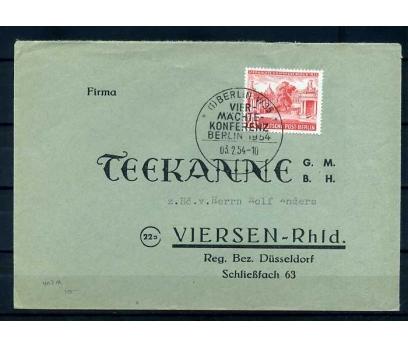 BERLİN  1954 KONFERANS TEK PULLU PG ZARF SÜPER