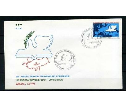 CUMH.FDC 1990 VIII.AVRUPA ANAYASA MAHK.K. SÜPER
