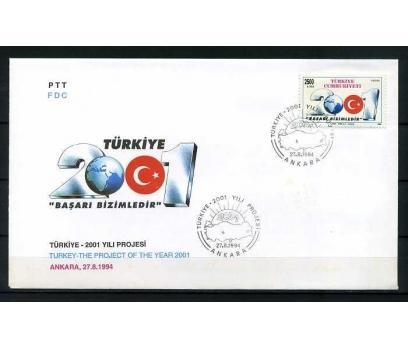 CUMH.FDC 1994 TÜRKİYE 2001 YILI PROJESİ SÜPER