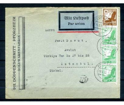 REİCH 1935 GAMALI HAÇ PULLARLA  TAAHHÜTLÜ PG ZARF