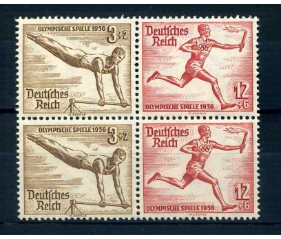 REİCH  ** 1936  JİMNASTİK & ATLETİZM  DÖRTLÜ
