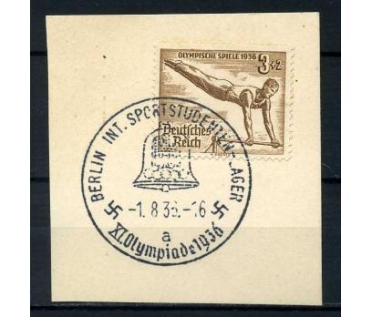 REİCH  1936 OLİMPİYAT DAMGALI JİMNASTİK PULLU FRG.