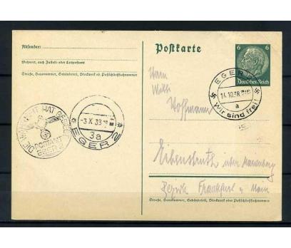REİCH   1938  NAZİ DAMGALI POSTADAN GEÇMİŞ ANTİYE