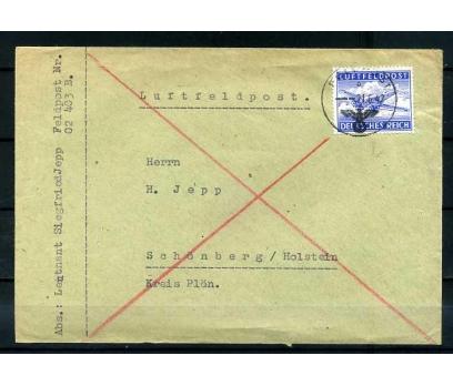 REİCH   1942 FELDPOST UÇAK PULLU POSTADAN G. ZARF