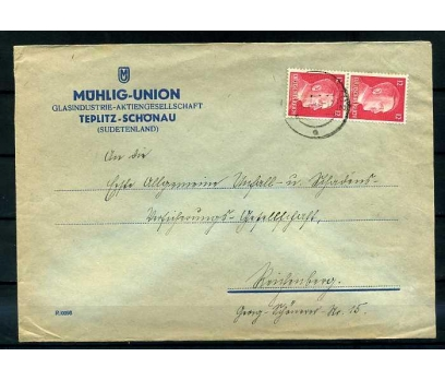 REİCH   1942  HİTLER  PER PULLU  POSTADAN G. ZARF