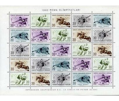 CUMHURİYET **  1960 ROMA OLİMPİYATLARI  BLOK