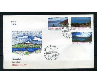 CUMH.FDC 1991 GÖLLERİMİZ  SÜPER 1