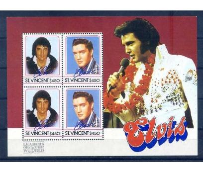 ST.VINCENT 1985 ELVIS PRESLEY BLOK SÜPER (A-1)
