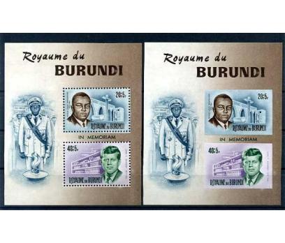 BURUNDİ  **  1966  BAŞKAN KENNEDY 2 BLOK SÜPER