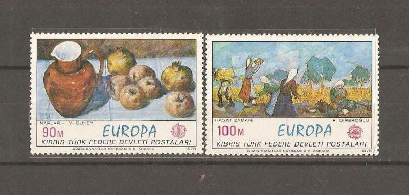 1975 DAMGASIZ KIBRIS CEPT SERİSİ 1