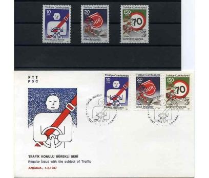 CUMH.SERİ + FDC 1987 TRAFİK  SÜPER