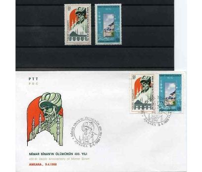 CUMH.SERİ + FDC 1988 MİMAR SİNAN SÜPER