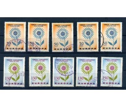 CUMHURİYET  DAMGALI 1964 E.CEPT 5 TAM SERİ(300415)