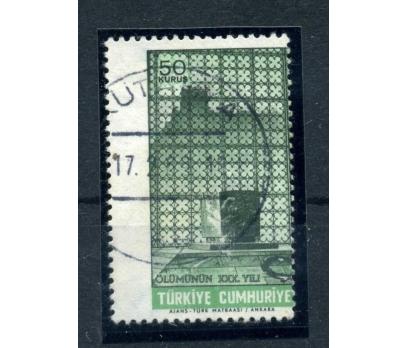 ERÖR CUMHURİYET 1968  ATA ÖLÜM DANTEL KAYMASI(E-1)