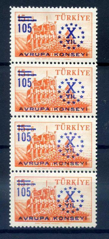 CUMHURİYET ** 1959 AVRUPA KONSEYİ  DÖRTLÜ BANT 1