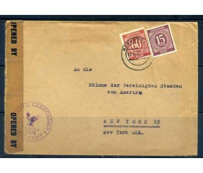 ALMANYA 1947 SANSÜRDEN G. KLASİK PULLU PGZ(YZ-1)