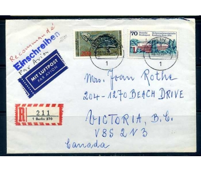 ALMANYA 1978 FOSİL KONULU PULLA PG TAAH.ZARF(YZ-1)