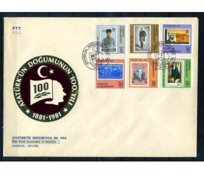CUMH.FDC 1981 ATATÜRK'ÜN DOĞUMU 100.YILI  SÜP