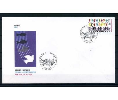 CUMH.FDC 1996 BOSNA-HERSEK SÜPER