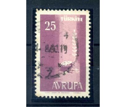 ERÖR CUMH.1958 EUROPA CEPT VİYOLE BASKI NOKSAN