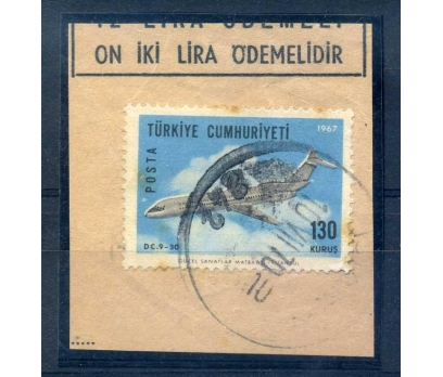ERÖR CUMH.1967 UÇAK 130 KRŞ FRG.KIRMIZI NOKSAN