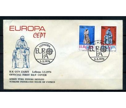 KKTC FDC 1976 EUROPA CEPT SÜPER