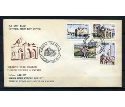 KKTC FDC 1977 KIBRIS'TA TÜRK ESERLERİ SÜPER