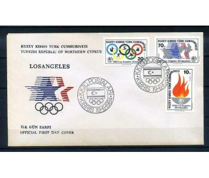 KKTC FDC 1984 LOS ANGELES OLİMPİYATLARI SÜPER