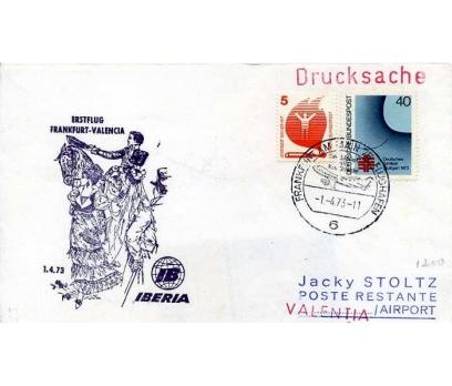 ALMANYA 1973 UÇAK ÖZEL DAMGA  SÜPER(YZ-1)