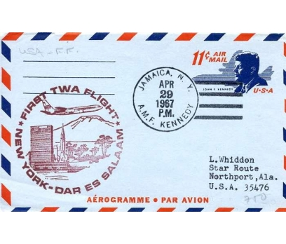 ABD  1967 UÇAK ÖZEL DAMGA  SÜPER(YZ-1)