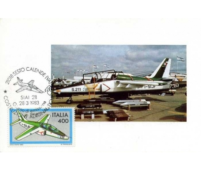 İTALYA 1983 UÇAK KART MAKSİMUM  SÜPER(YZ-1)
