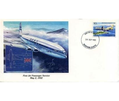 ST.KITTS 1983 UÇAK ÖZEL DAMGA  SÜPER(YZ-2)