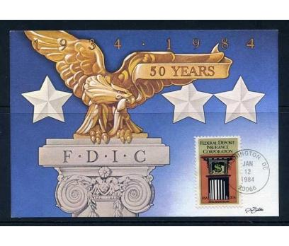 ABD 1984 KART MAX. F.D.I.C. 50.YIL  SÜPER 1