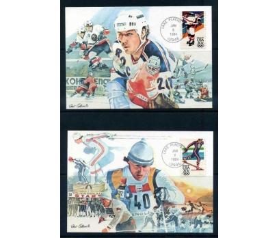 ABD 1984 KART MAX. KIŞ OYUNLARI 4 ADET SÜPER 2