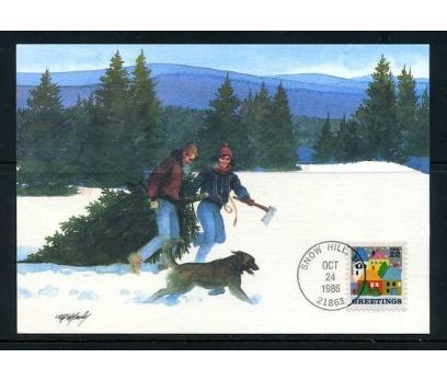 ABD 1986 KART MAX. CHRISTMAS SÜPER