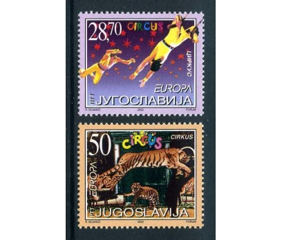 YUGOSLAVYA ** 2002 E.CEPT TAM SERİ  SÜPER